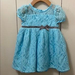George Blue Lace Special Occasion Dress